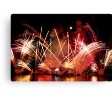 EPCOT Fireworks Canvas Print