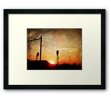 Railroad Sunset Framed Print