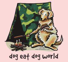 Golden Retriever Dog Eat Dog {kids} One Piece - Long Sleeve