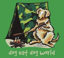 Golden Retriever Dog Eat Dog {kids, dark} Kids Clothes