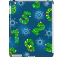 Seamless pattern from numbers like fir iPad Case/Skin