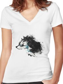 Wolf Link Artwork 2 Women's Fitted V-Neck T-Shirt