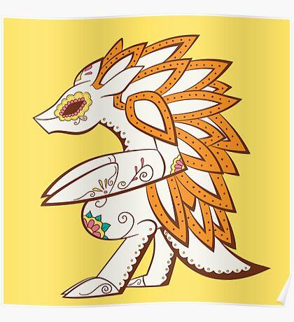 Sandslash Pokemuerto | Pokemon & Day of The Dead Mashup Poster
