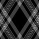 Black and Grey Plaid by HighDesign