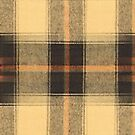 Orange Yellow Black Rustic Plaid by HighDesign