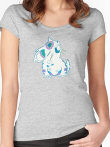 Nidoran Female Pokemuerto | Pokemon & Day of The Dead Mashup Women's Fitted Scoop T-Shirt