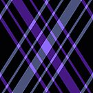 Purple and Black Diamond Plaid by HighDesign