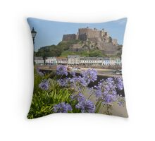 Gorey Castle Jersey Channel Islands Throw Pillow