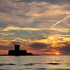 St Ouen Jersey Sunset 3 by Mark Nelson