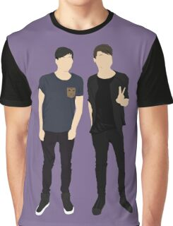 Dan and Phil Silhouettes Graphic T-Shirt