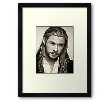 chris hemsworth Framed Print