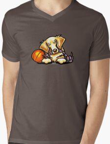 Golden Retriever Basketball Star Mens V-Neck T-Shirt