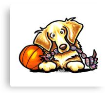 Golden Retriever Basketball Star Canvas Print