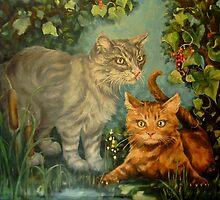 Cat Hideaway by Pam Humbargar