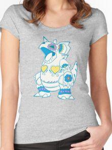 Nidoqueen Pokemuerto | Pokemon & Day of The Dead Mashup Women's Fitted Scoop T-Shirt