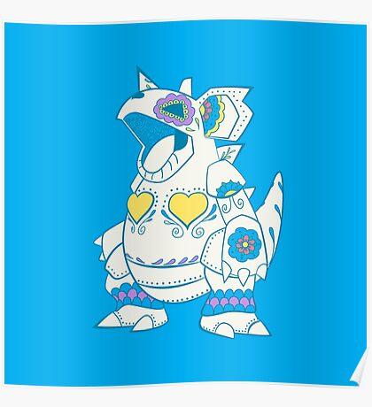 Nidoqueen Pokemuerto | Pokemon & Day of The Dead Mashup Poster