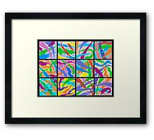 12 ABSTRACT MINIS Framed Print