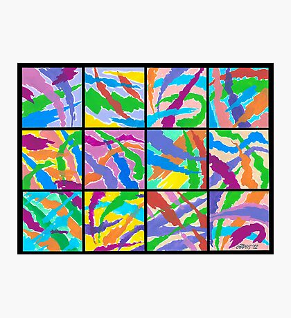 12 ABSTRACT MINIS Photographic Print