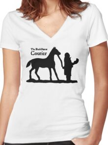 The Black Horse Courier TES: Oblivion Women's Fitted V-Neck T-Shirt