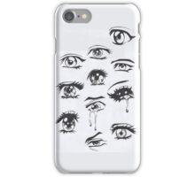 Eyes manga iPhone Case/Skin