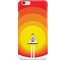 Rocket ship and the sunspot iPhone Case/Skin