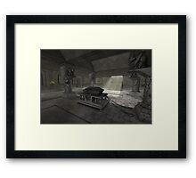 underground crypt Framed Print