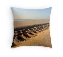 Beach Tyre Throw Pillow
