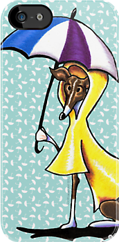 Italian Greyhound Day for a Duck by offleashart