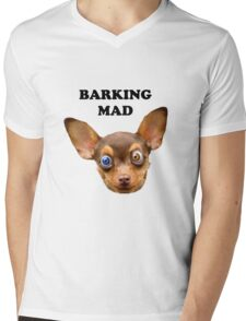 Barking mad Mens V-Neck T-Shirt