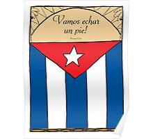 Cuban Illustration 'Dance Until We Drop' Poster