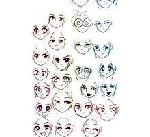 Manga face's  by Doremi972