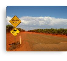 Beware gravel (and snakes) Canvas Print