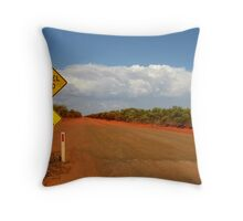 Beware gravel (and snakes) Throw Pillow