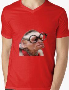 Funny Monkey Mens V-Neck T-Shirt