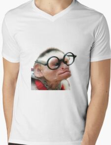Funny Monkey Mens V-Neck T-Shirt