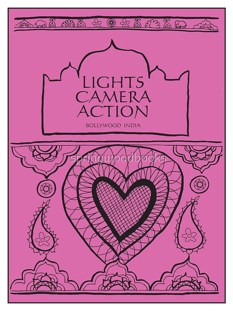 Indian Illustration 'Lights Camera Action' by springwoodbooks