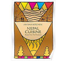 Nepal Cookbook Illustration Poster