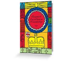 Great Britain Illustration 'London 2012' Greeting Card