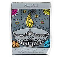 Diwali Fun Laughter Illustration Poster