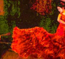Flamenco Flame Sticker