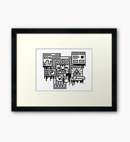 Hello Internet Framed Print
