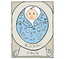 New born Baby Boy Photographic Print