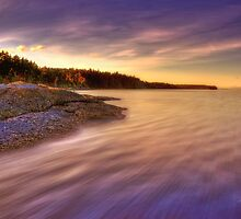 Denman Island Sunset by Keri Harrish