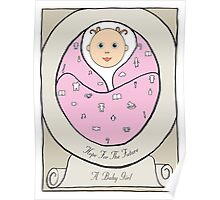 New Born Baby Girl Poster