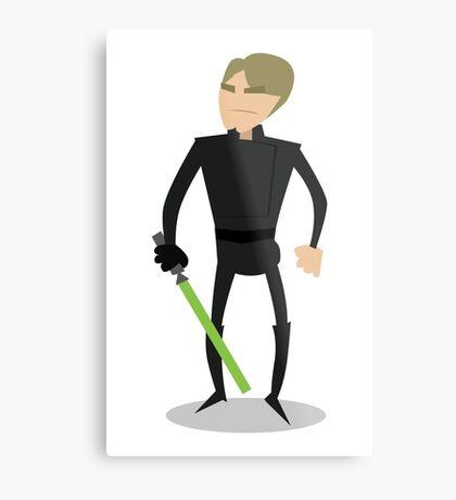 Jedi Luke Metal Print