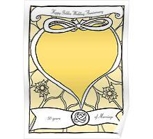 Golden Wedding Anniversary Poster