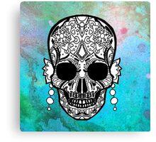 Sugar Skull Color Splash Series Canvas Print