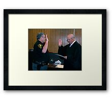 The Swearing Framed Print