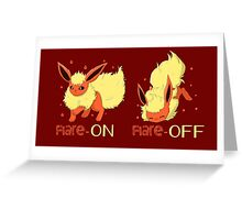 Turn off the flare Greeting Card