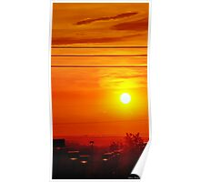 Sweltering Sunset Poster